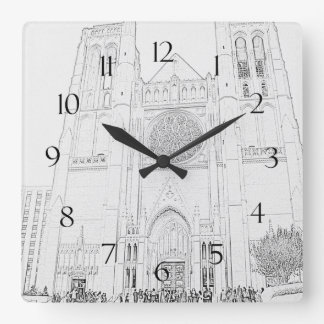 Grace Cathedral Square Wall Clock
