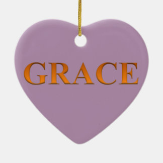 Grace Ceramic Heart Ornament