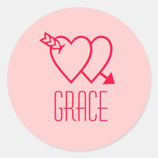 Grace Classic Round Sticker