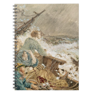 Grace Darling and her father saving the shipwrecke Notebook
