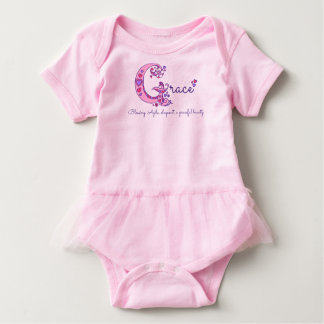 Grace girls G name meaning monogram baby Baby Bodysuit