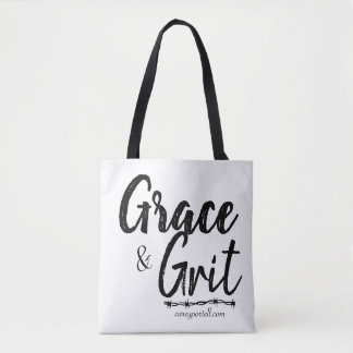 Grace & Grit Grocery Tote Black -Carey Portell