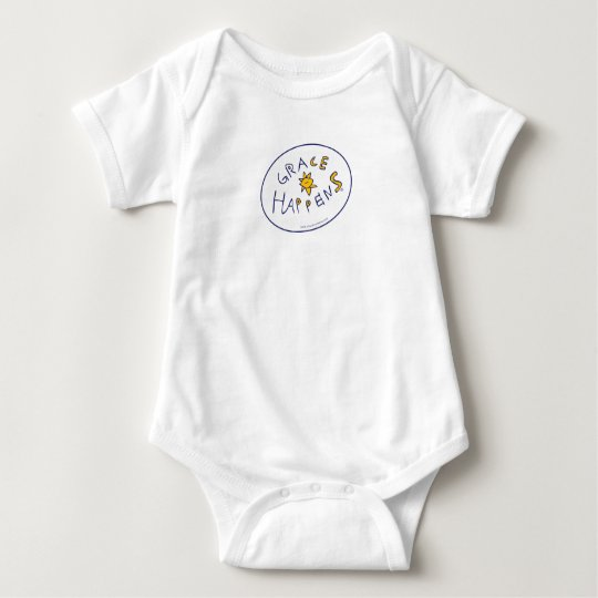 Grace Happens Baby Bodysuit
