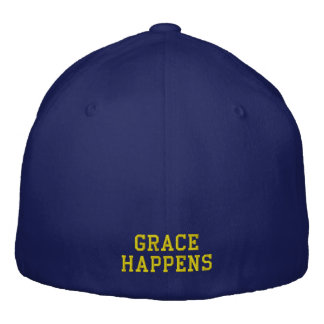 Grace Happens Navy Blue Baseball Cap