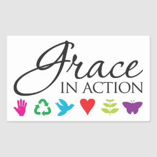 Grace in Action Sticker