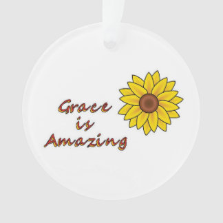 Grace is Amazing - Sunflower Ornament