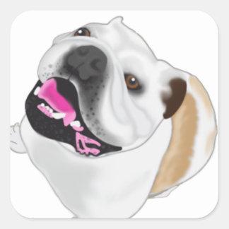Grace Mertes Bulldog Wyatt Square Sticker