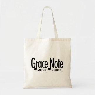 Grace Note Black Logo Tote Bag