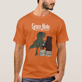 Grace Note T-Rex Piano T-Shirt