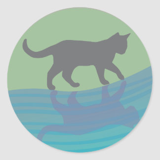 Grace of the River Round Sticker