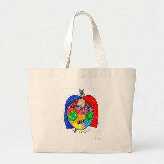 Grace Self-Portrait Large Tote Bag