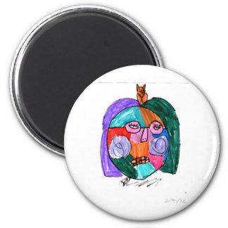Grace Self-Portrait Purple Magnet