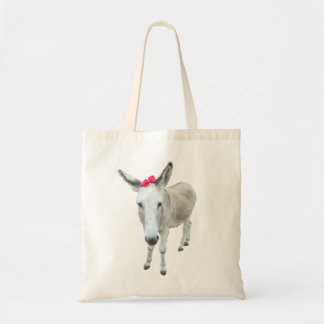 Grace the Donkey with a Red Bow