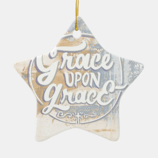 Grace upon Grace Ceramic Star Ornament