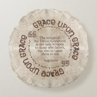 """Grace Upon Grace"" Pillow w/ Augustine Quote"