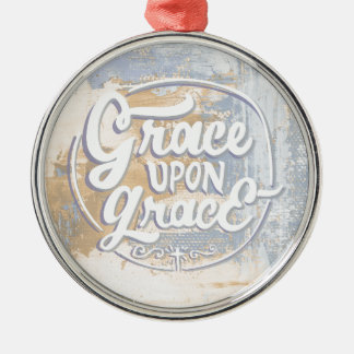 Grace upon Grace Silver-Colored Round Ornament
