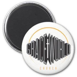 Grace World Church Round Magnet Alt Logo