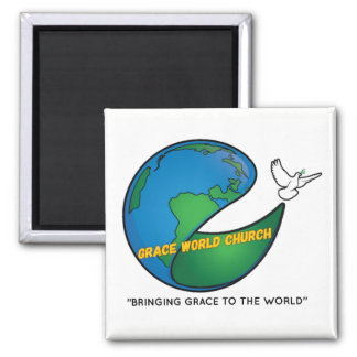 Grace World Church Square Magnet