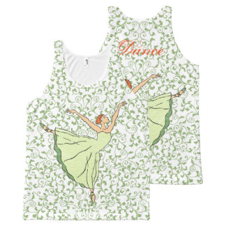Graceful Ballerina All-Over-Print Tank Top