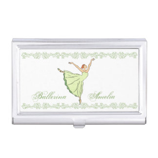 Graceful Ballerina Business Card Holder