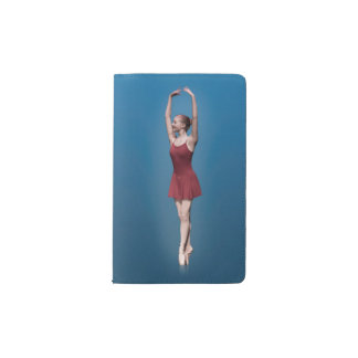 Graceful Ballerina On Pointe Pocket Moleskine Notebook