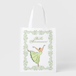 Graceful Ballerina Reusable Grocery Bag