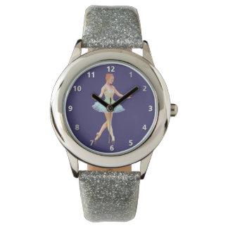 Graceful Ballerina with Red Hair Wrist Watch