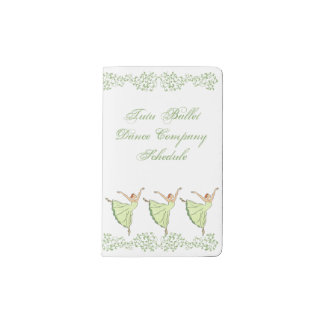 Graceful Ballerinas Dance Pocket Moleskine Notebook