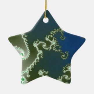 Graceful Blue Ceramic Star Ornament
