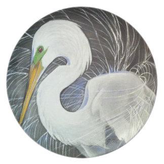 Graceful Egret Plate
