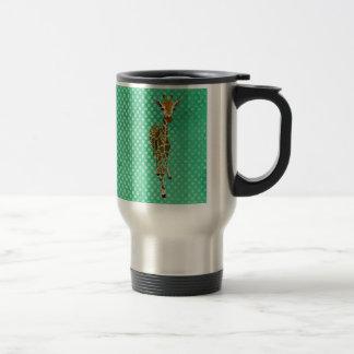 Graceful Giraffe Pokadot Travel Mug