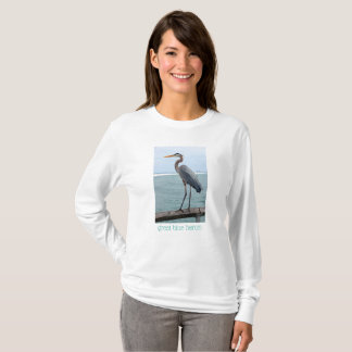Graceful Great Blue Heron Ladies Sweatshirt