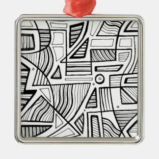 Graceful Heavenly Heavenly Genuine Silver-Colored Square Ornament