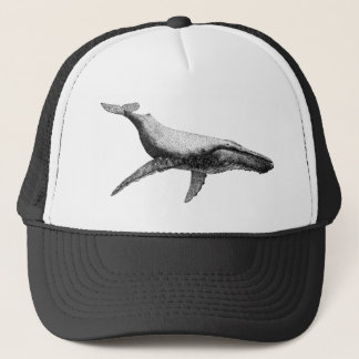 GRACEFUL HUMPBACK WHALE TRUCKER HAT