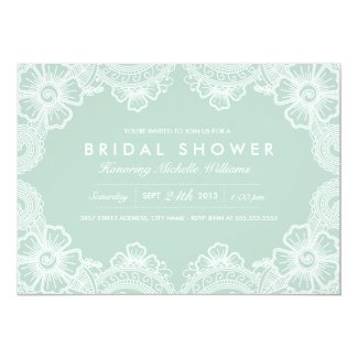 Graceful Lace Bridal Shower Invitation