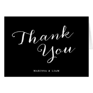 Graceful Love Custom Color Wedding Thank You Cards