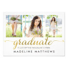 Graceful Script Editable Colour Graduation Invite