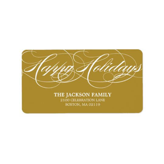 GRACEFUL SCRIPT | HOLIDAY ADDRESS LABELS