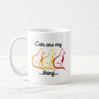 Graceful Sitting Kitties-Cats Are My Thing Coffee Mug
