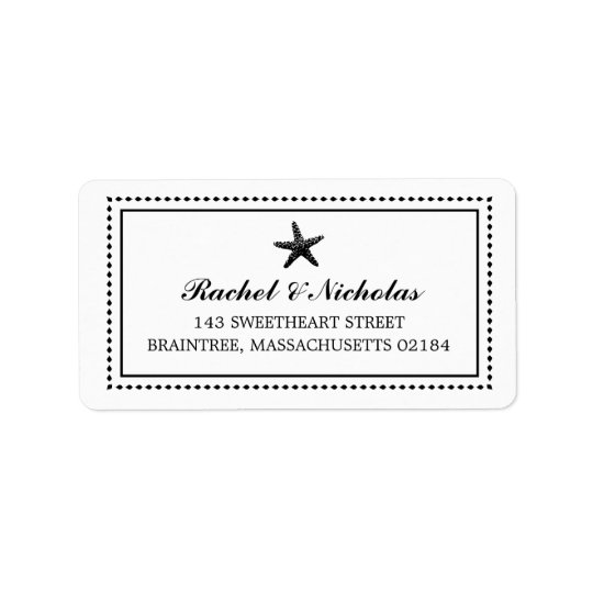 Graceful Starfish Black | Mailing Address