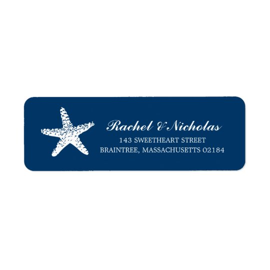 Graceful Starfish | Return Address Return Address Label