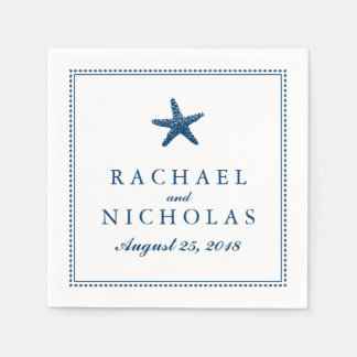 Graceful Starfish | Wedding Disposable Napkins