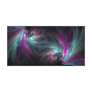 Graceful Strands in Blue and Purple Canvas Print