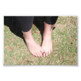 Graceful Sunshine Feet Photo Print