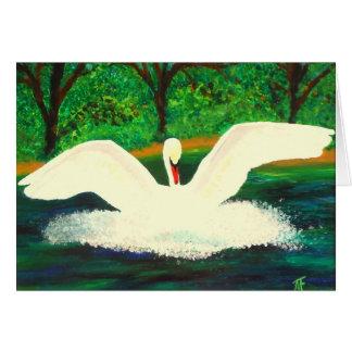 Graceful Swan - Greeting Card
