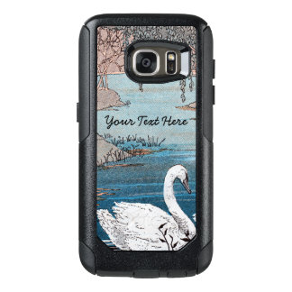 Graceful White Swan in Lake Trees Plants OtterBox Samsung Galaxy S7 Case