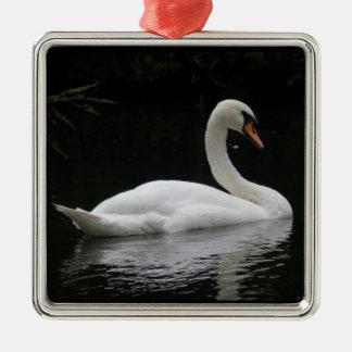 Graceful White Swan Ornament