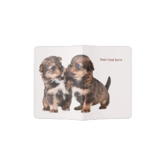 Graceful Yorkshire Puppies Passport Holder