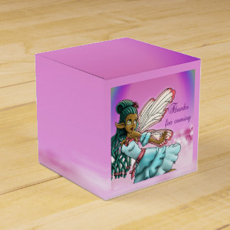 Gracefulness B-day Classic 2x2 Favor Boxes, Fairy Favor Boxes