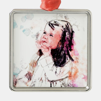 graces prize also a sweetness so sweet Silver-Colored square ornament